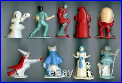 Set of 9 Tommy Toy Nursery Rhyme Lead Cast Figures Humpty Bo Peep Puss In Boots