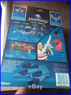 SilverHawks Quicksilver Action Figure, Vintage 1986 Kenner Toy MOSC Nice