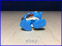 Smurfs 20427 Cave Man Smurf Wood Club Rare Vintage Figure PVC Toy Figurine Peyo