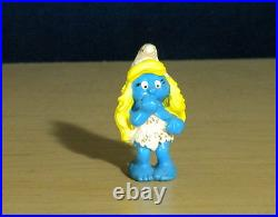 Smurfs 20428 Cave Woman Smurfette Rare Smurf Vintage Toy Figure PVC Lot Figurine