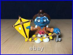 Smurfs 20502 Benjamin Franklin Smurf Historical Figure Rare Vintage Toy Figurine