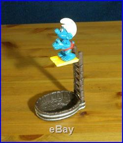 Smurfs 40243 High Diver Smurf Rare Vintage Super Figure Toy Lot Diving Figurine