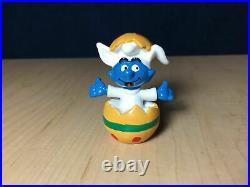 Smurfs Easter Egg Baby Smurf 20492 Rare Vintage Figure PVC Toy Figurine Lot Peyo
