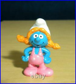 Smurfs Sassette Smurfling 20404 Smurf Girl Vintage Figure 1980s PVC Toy Figurine
