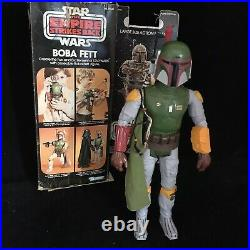 Star Wars 12 Boba Fett 1979 Action Figure Vintage Toy With Box Kenner Hong Kong
