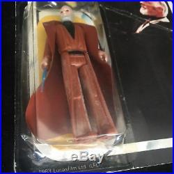 Star Wars Obi Wan Kenobi Palitoy Carded 3.75 Action Figure Toy 1983 Vintage