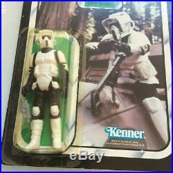 Star Wars Vintage Biker Scout 1983 Action Figure Kenner HK Toy Near MINT Carded