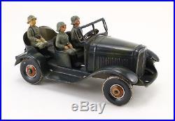 TCO TIPPCO Blech Kübelwagen Figur Wehrmacht 2. WK WWII 30's Vintage Tin Toy E181
