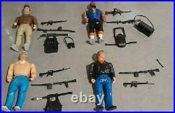 THE A TEAM 1983 VINTAGE Toy Action Figures Mr T Hannible Murdoch Peck guns belts