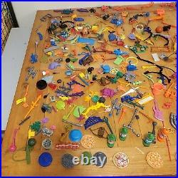 TMNT Teenage Mutant Ninja Turtles 350+ Accessories + Figures Toy Lot! Vintage