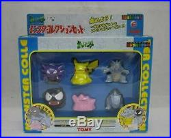 TOMY Pokemon Monster Collection Set E Pikachu Figure Vintage Toy Rare From Japan