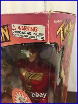 Talking Turbo Man Turboman Action Figure Toy In Box Vintage