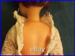 Tammy Ideal Doll Toy Figure Rare Brunette White Dress BS-12 Vtg 1960s 12