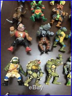 Teenage mutant ninja turtles toy lot Vintage Weapons 67 Action Figures tmnt