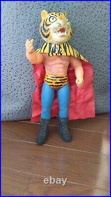 Tiger Mask Soft vinyl figure Japan Pro Wrestling Vintage Retro Toy Rare