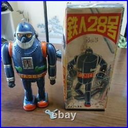 Tin Toy Japan Tetsujin 28 Iron Man 28th Figurine Vintage Figure Rare With Box