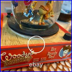 Toy Story Round Up Record Player Snow Globe Music Box Figure Vintag F/S from JPN