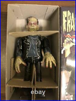 Universal Monsters Frankenstein Spring Walking Figure Tin Plate Toy Japan