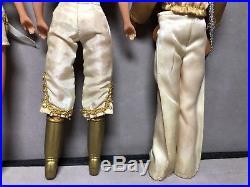VG Vintage 1970s Hasbro ABBA 8 TOY DOLL POP Music BAND FIGURE SET Bjorn Benny