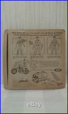 VINTAGE 1972 EVEL KNIEVEL ACTION FIGURE WHITE JUMPSUIT MIP SEALED with PRICE TAGS