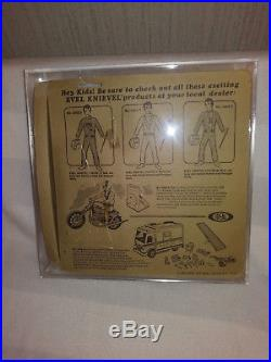 VINTAGE 1972 EVEL KNIEVEL ACTION FIGURE WHITE JUMPSUIT MIP SEALED withCASE