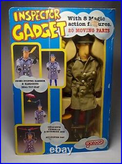 VINTAGE 1983 Galoob 12-15 INSPECTOR GADGET action Figure Toy Doll COMPLETE MIB