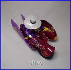 VINTAGE 1991 DARKWING DUCK action figure toy LOT Playmates RATCATCHER Motorcycle