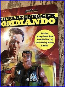 VINTAGE ARNOLD SCHWARZENEGGER 1985 COMMANDO Figure By Diamond toy maker Rare