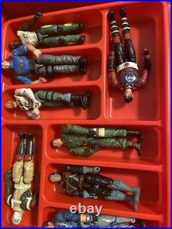 VINTAGE G. I. Joe Collectors Case 1984 With Figures Holds 24 Tara Toy W 12 Fig Lot