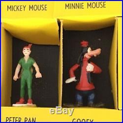 VINTAGE MARX DISNEYKINS MINIATURE TOY FIGURES 32 PC Box Set Disney