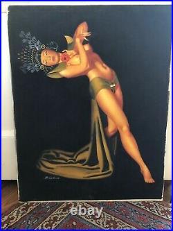 VINTAGE Nude Withc Of Burlesque Star Noel Toy James Bingham ILLUSTRATION Pin Up
