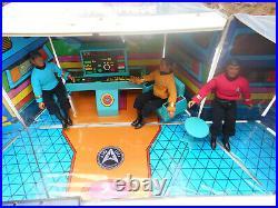 VINTAGE ORIGINAL MEGO 1974 STAR TREK USS ENTERPRISE ACTION PLAYSET With4 FIGURES