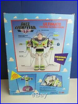 VINTAGE ORIGINAL toy story BUZZ LIGHTYEAR action figure DISNEY BOXED 62809 25h