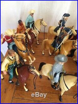 VINTAGE WESTERN HARTLAND FIGURES ROY ROGERS, LONE RANGER, TONTO, WYATT Civil War