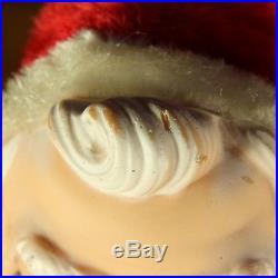 VTG 1950s 17 Large My Toy Vinyl & Plush Santa Claus Doll Toy Christmas Decor