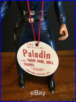 VTG 1960s Hartland Gunfighter PALADIN Have Gun Will Travel Western Figure+Extras