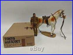 VTG 1970s Gabriel Toy Tonto & Scout Indian Horse Plastic Figure Play Set with Box