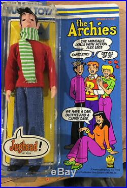 VTG 1975 The Archies -Archie, Jughead, Veronica, Betty -9 Doll Figure Marx Toys