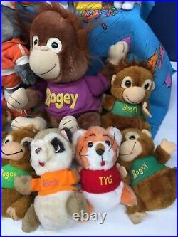 VTG 80s LOT 22 Hallmark Shirt Tales & Get Along Gang Plush Toy Figures Ice Cream