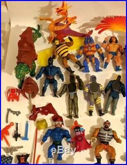 VTG Bulk LOT 1980s HE-MAN Masters Of The Universe Action Figures Toys 50 pcMOTU