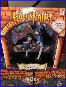 VTG Harry Potter Mattel Toy Figures-Mirror Erised, Chamber Of Keys, Hagrids Gift