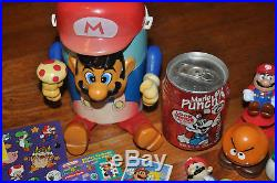 VTG Lot RARE 80s Super Mario Bros Toy Figures Puppet Cooler Nintendo PVC Cards