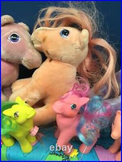 VTG & Modern LOT 27 My Little Pony G1 G2 Plush Dolls & Toy Figures 80s 90s 00s