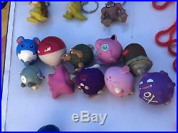 VTG Pokemon TOMY Burger King 90's Toys Keychains Figures Lot Collection RARE HTF