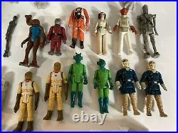 VTG Star Wars Toy Lot Original Parts Pieces Figures Vehicles 1980s Hoth Junkyard