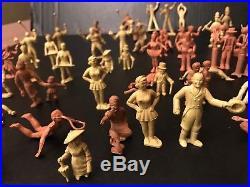 Very Rare Original 1952 Marx Super Circus Play Set 56 Figure Lot, Ringmaster +