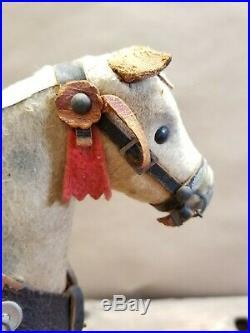 Vintage 1920's Santa Riding Horse on Platform Pull Toy 11 Tall