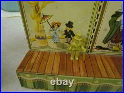 Vintage 1950's Marx Super Circus Tent with 2 Side Shows & 18 Figures No Flags