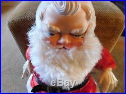 Vintage 1954 24 Large My Toy Vinyl and Plush Santa Claus Doll