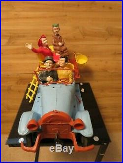 Vintage 1963 Beverly Hillbillies Jalopy Wind up Toy Truck With Figures